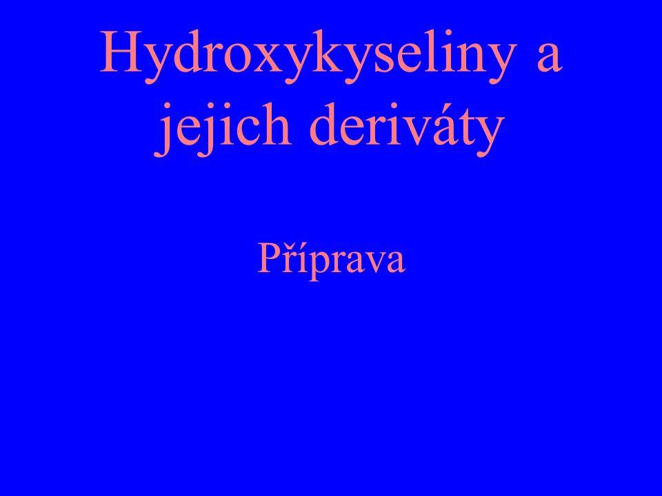 Hydroxykyseliny a jejich deriváty