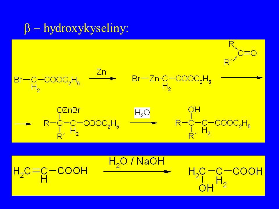 b - hydroxykyseliny: