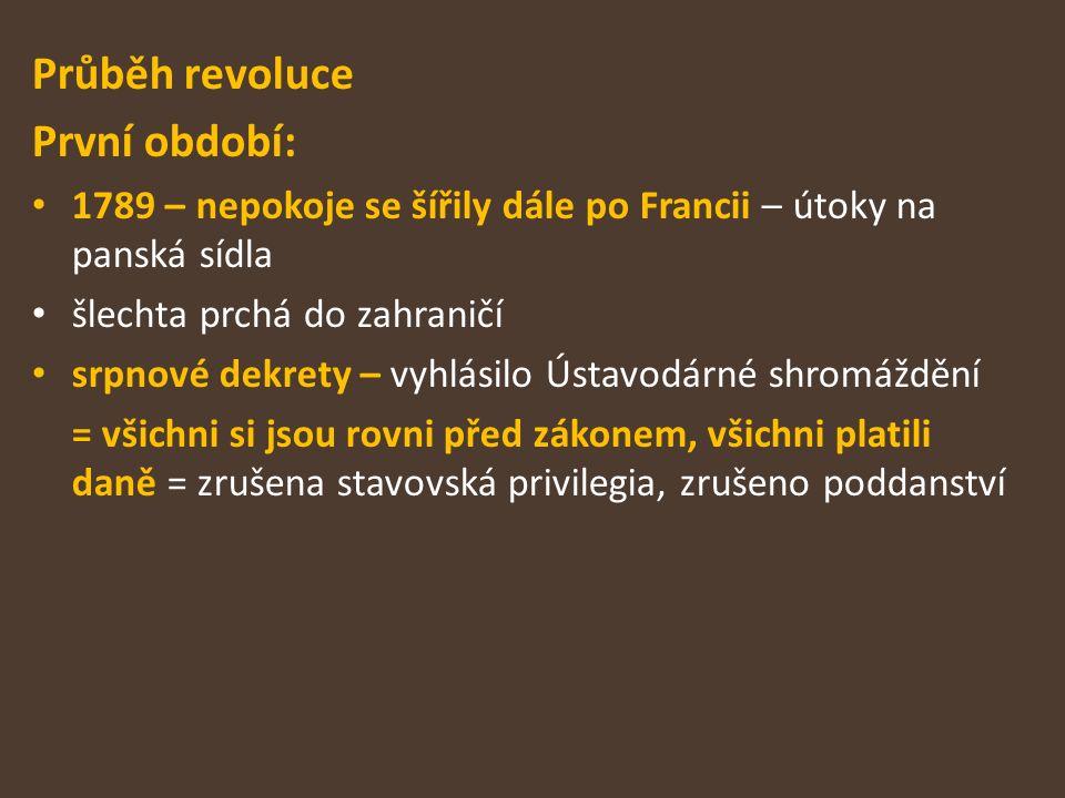 Průběh revoluce První období: