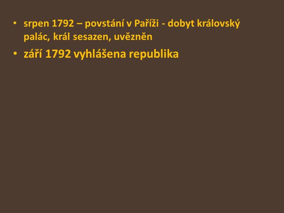 září 1792 vyhlášena republika