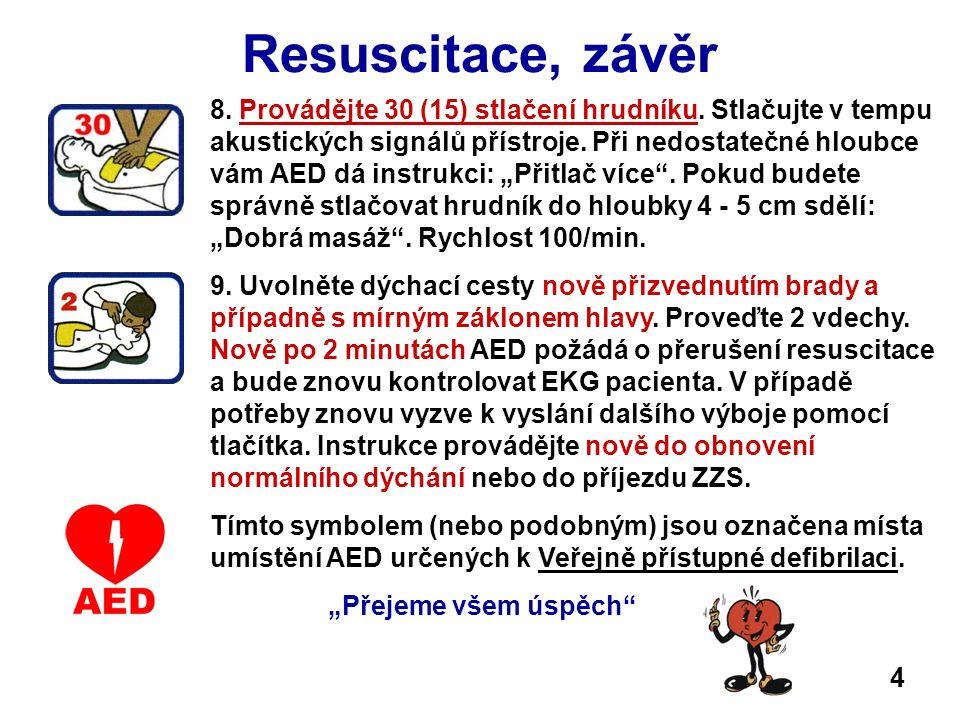 Resuscitace, závěr