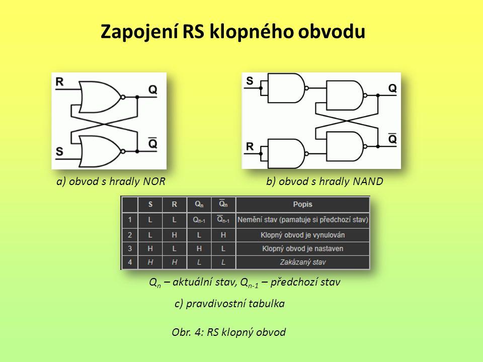 Zapojení RS klopného obvodu