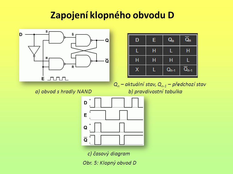 Zapojení klopného obvodu D