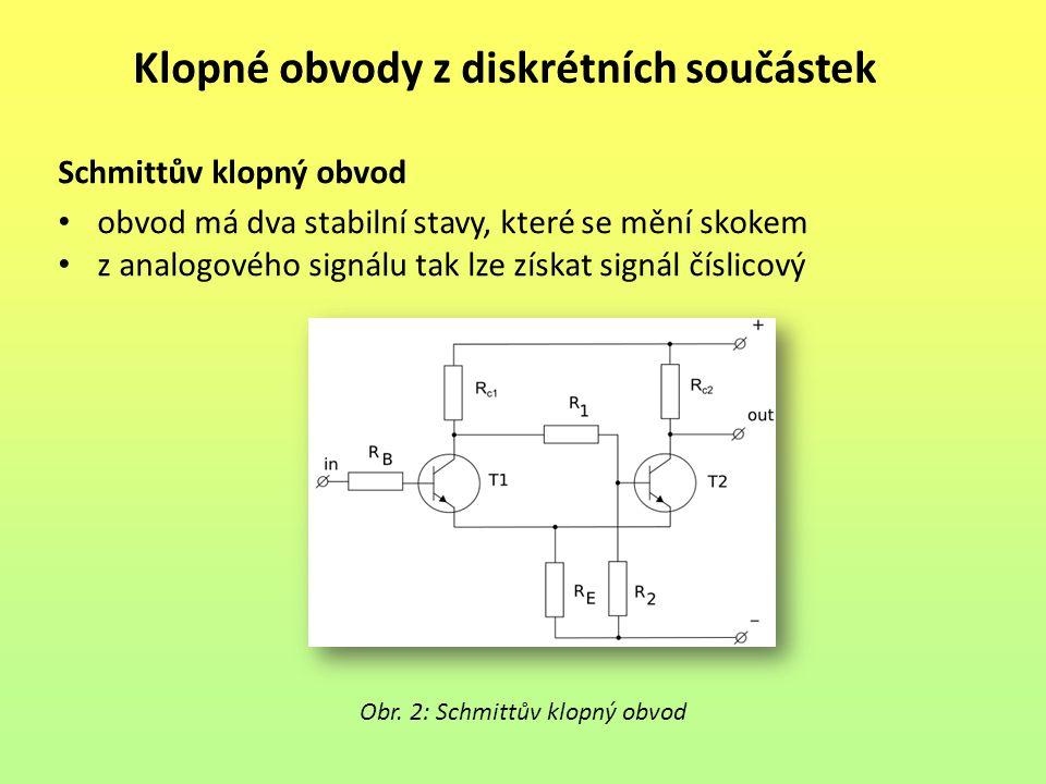 Klopné obvody z diskrétních součástek