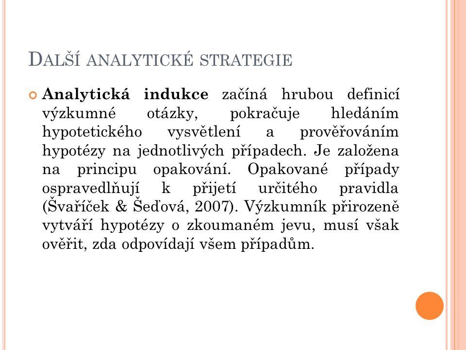 Další analytické strategie