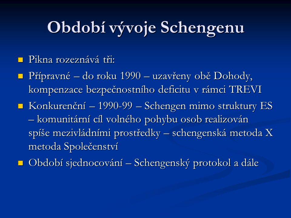 Období vývoje Schengenu