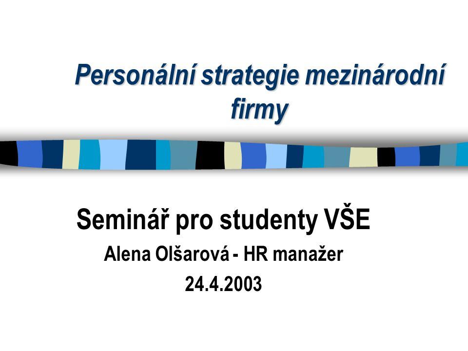 Personální strategie mezinárodní firmy