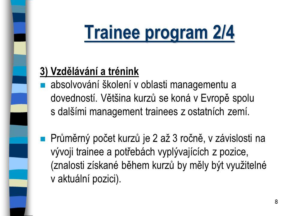 Trainee program 2/4 3) Vzdělávání a trénink