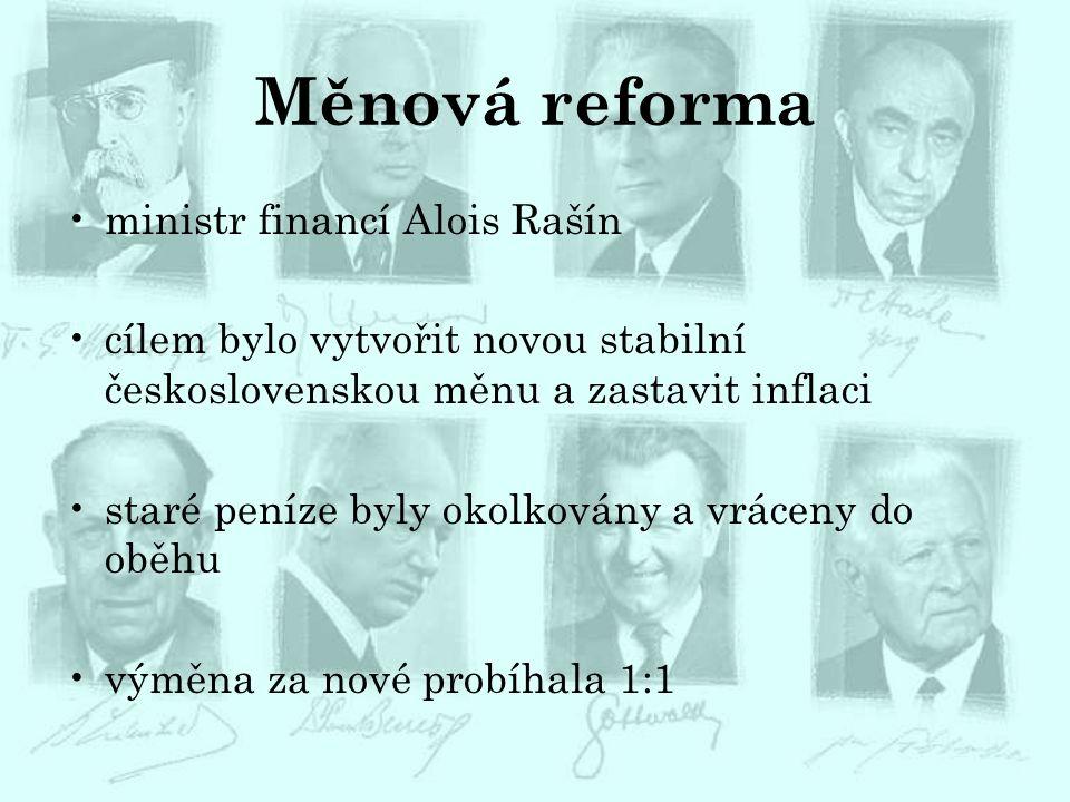 Měnová reforma ministr financí Alois Rašín