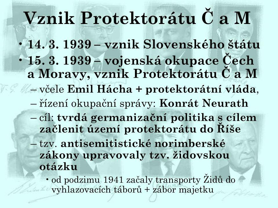 Vznik Protektorátu Č a M