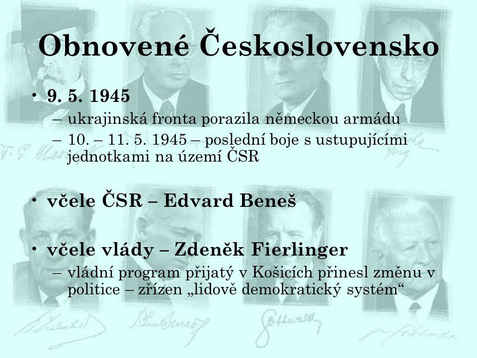 Obnovené Československo