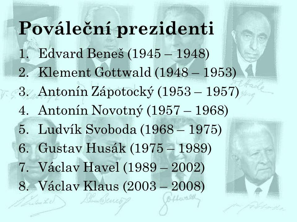 Pováleční prezidenti Edvard Beneš (1945 – 1948)
