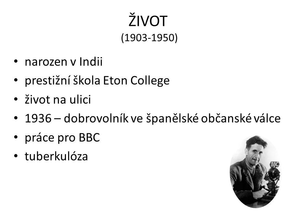 ŽIVOT (1903-1950) narozen v Indii prestižní škola Eton College