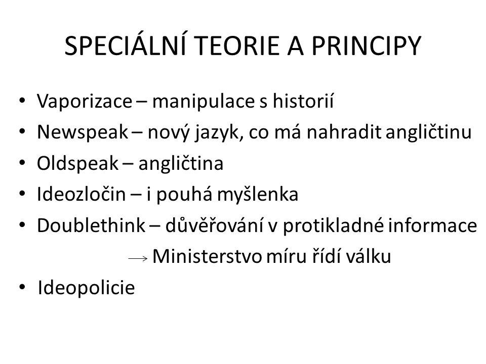 SPECIÁLNÍ TEORIE A PRINCIPY