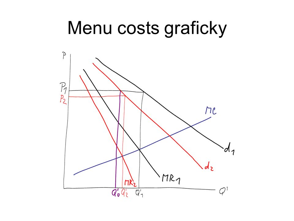 Menu costs graficky