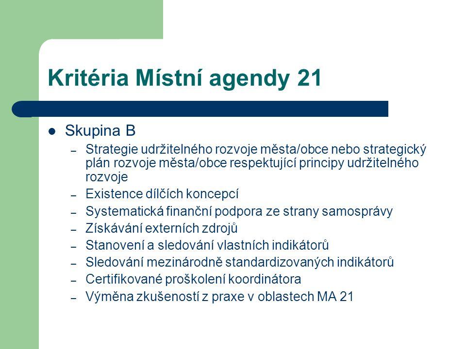 Kritéria Místní agendy 21