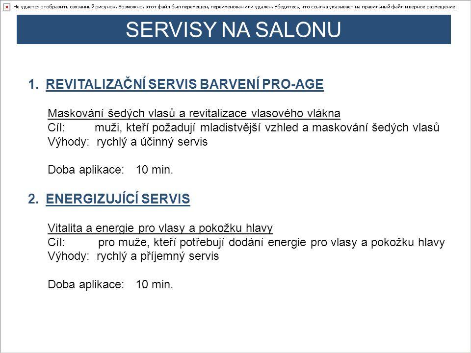SERVISY NA SALONU REVITALIZAČNÍ SERVIS BARVENÍ PRO-AGE