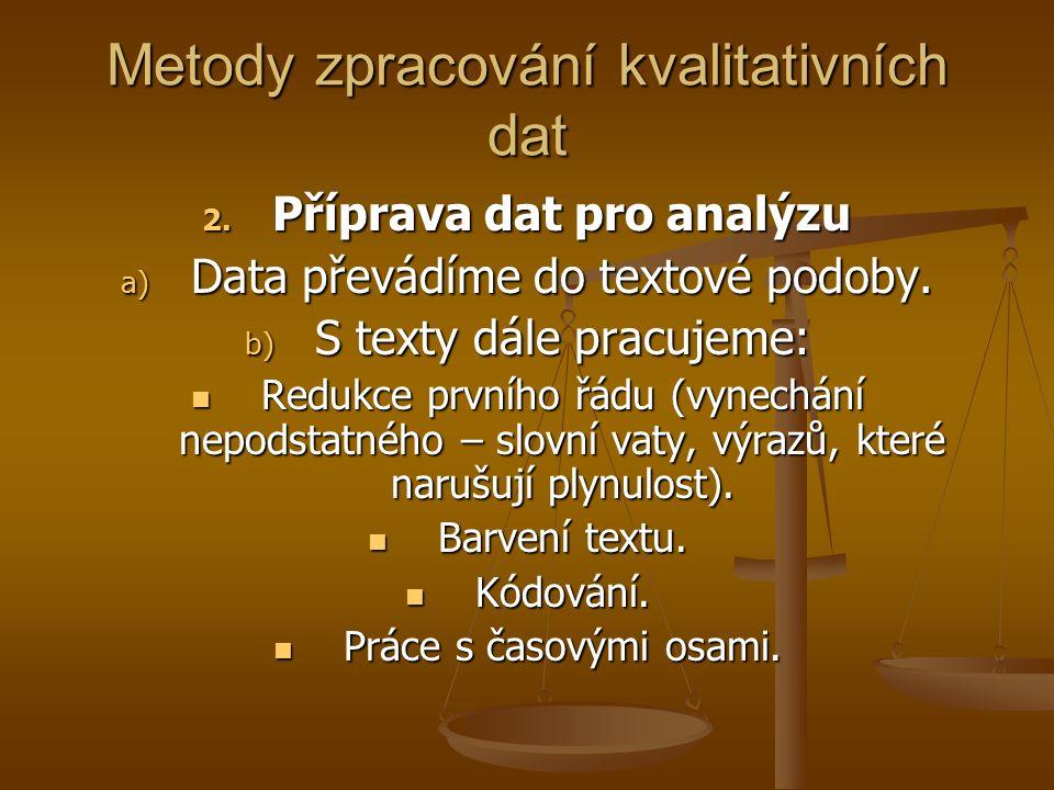 Metody zpracování kvalitativních dat
