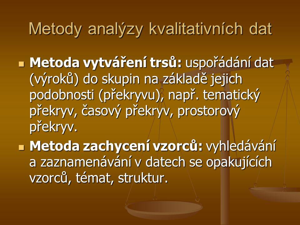 Metody analýzy kvalitativních dat