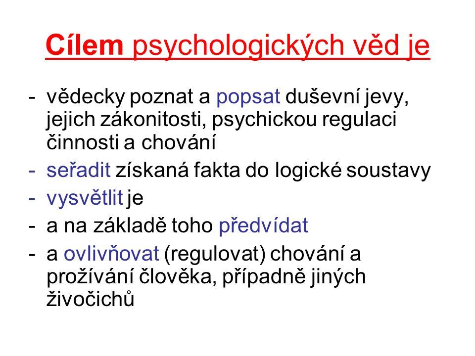 Cílem psychologických věd je