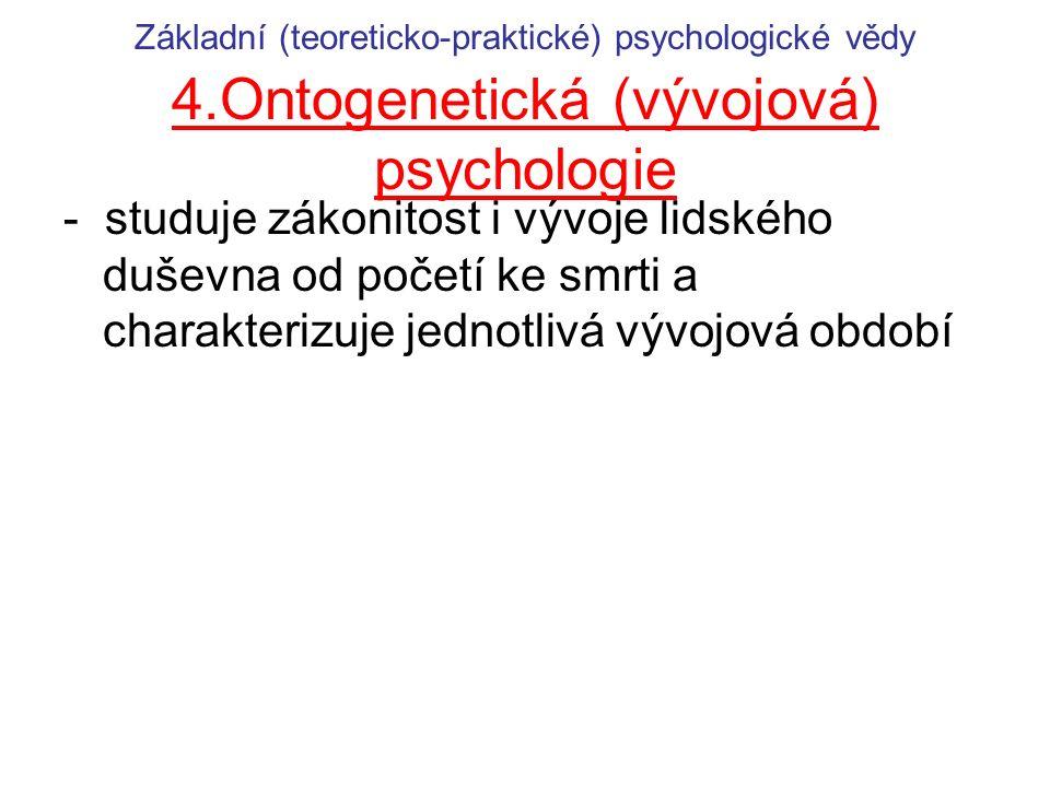 Základní (teoreticko-praktické) psychologické vědy 4
