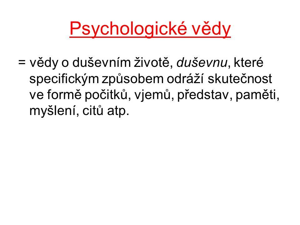 Psychologické vědy