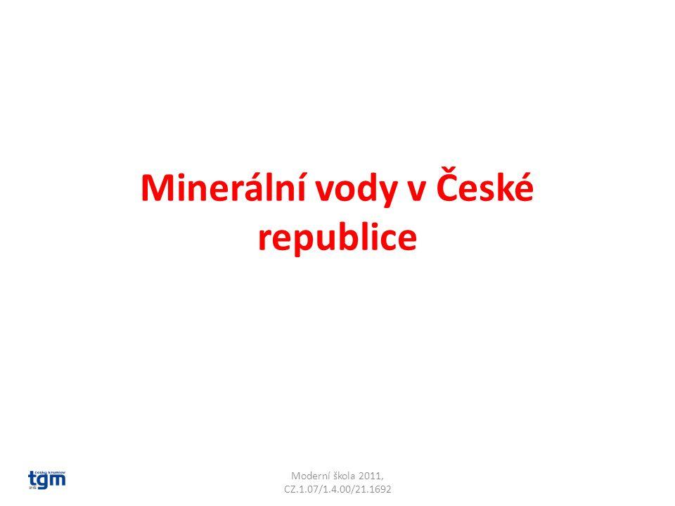 Minerální vody v České republice