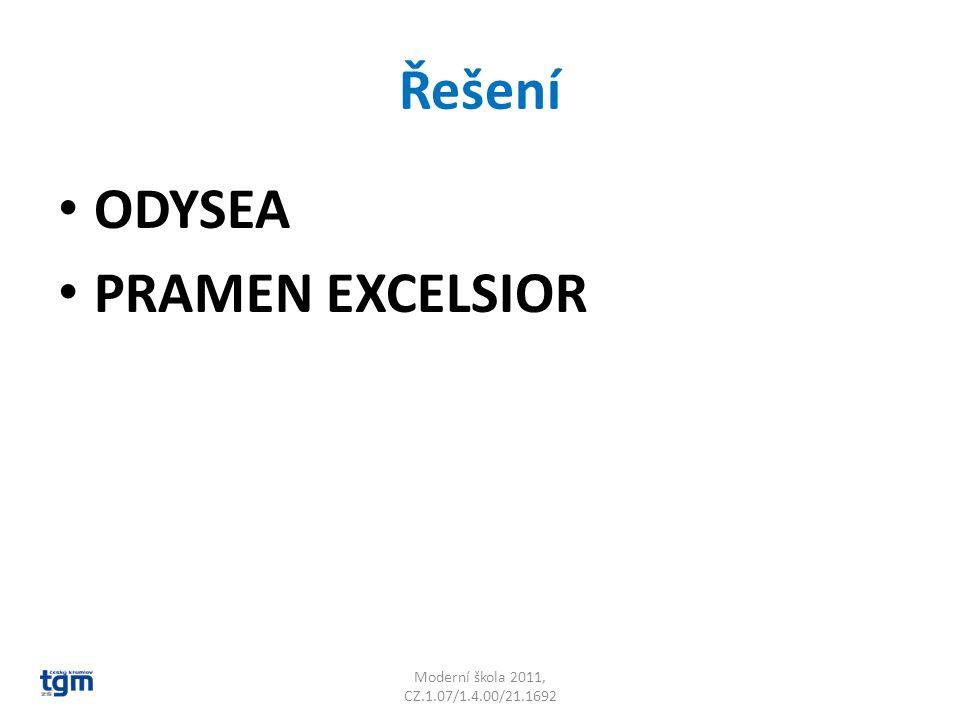 Řešení ODYSEA PRAMEN EXCELSIOR