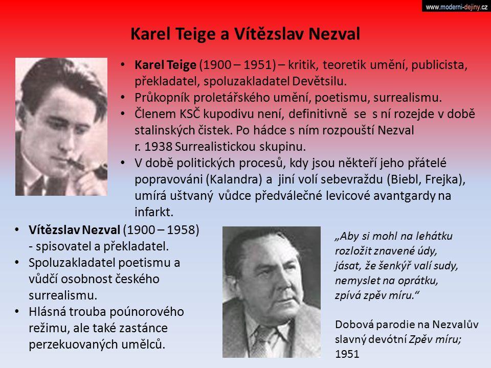 Karel Teige a Vítězslav Nezval