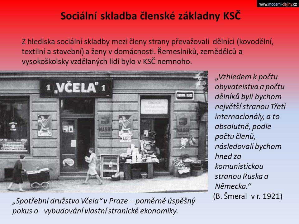 Sociální skladba členské základny KSČ