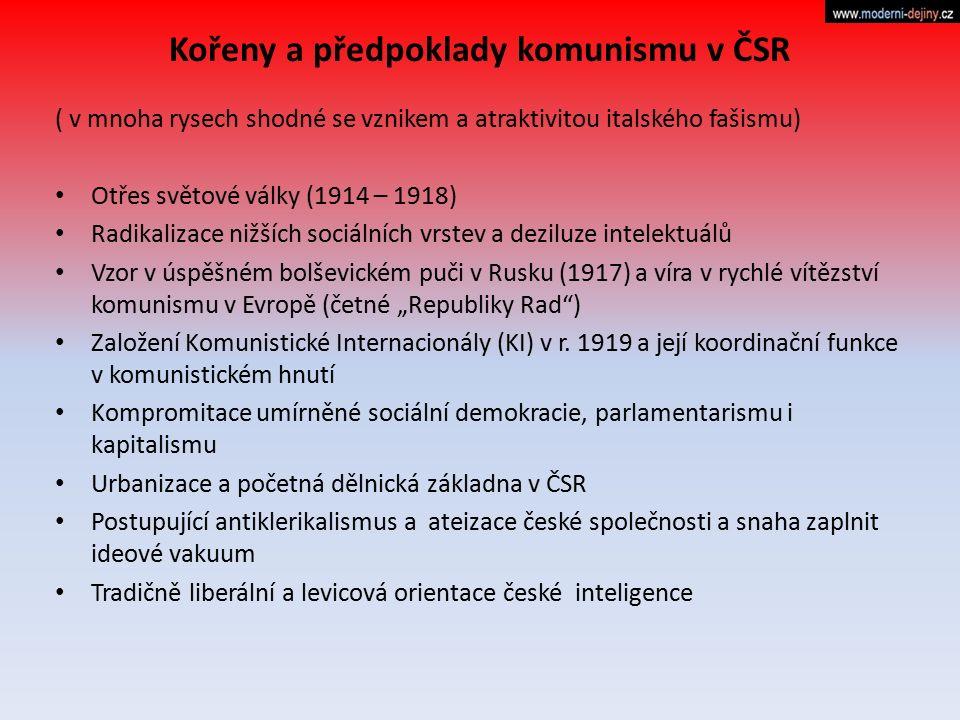 Kořeny a předpoklady komunismu v ČSR
