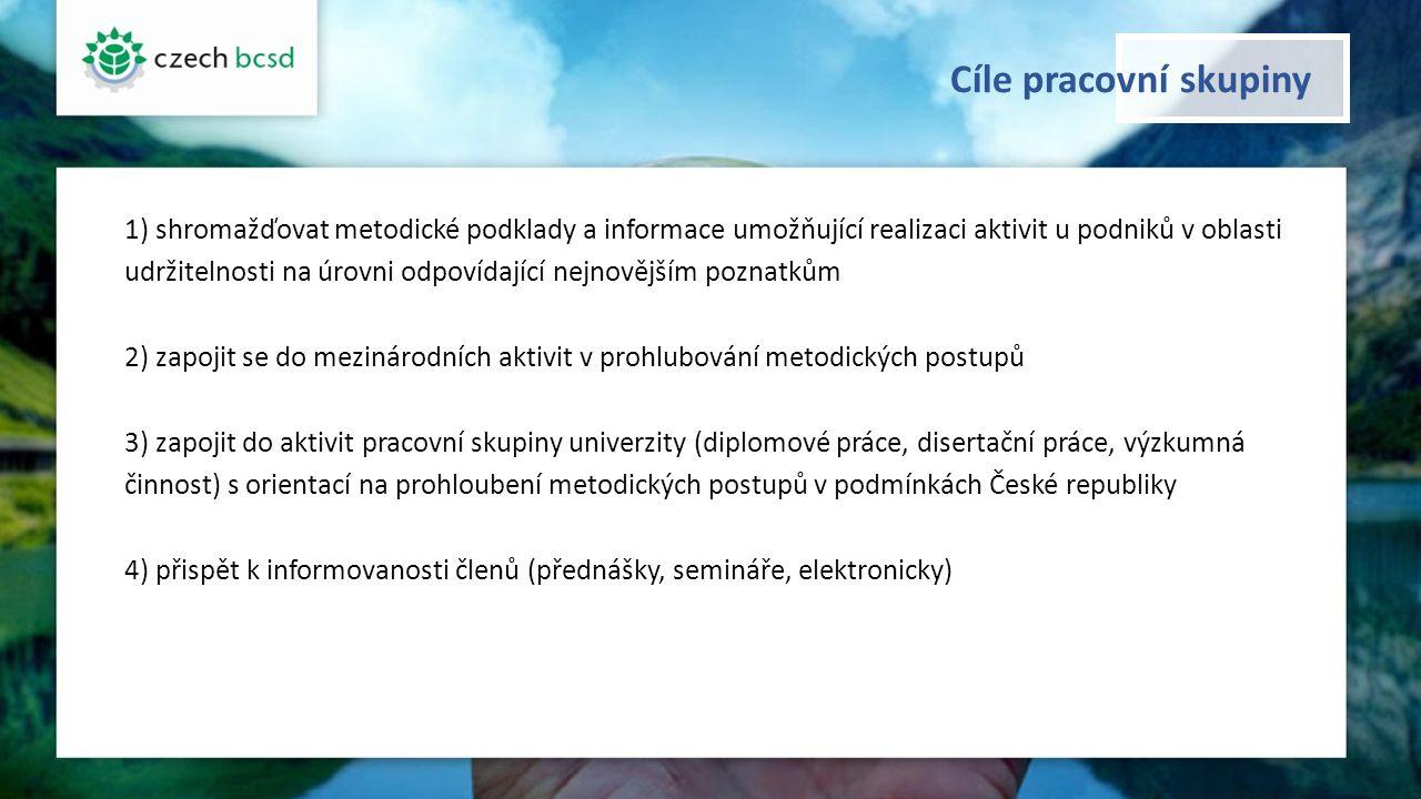 Cíle pracovní skupiny