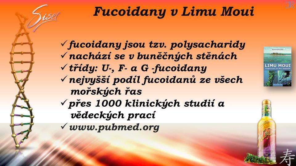 Fucoidany v Limu Moui fucoidany jsou tzv. polysacharidy