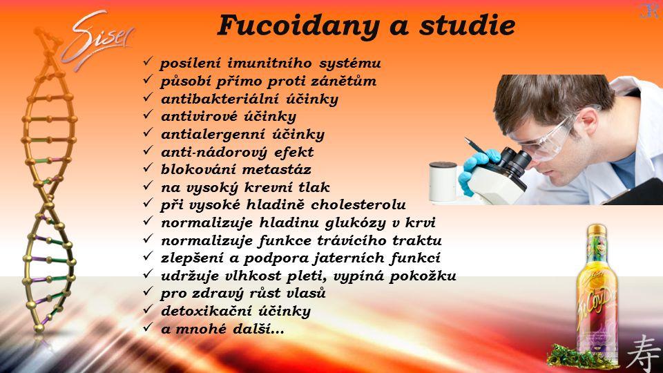 Fucoidany a studie posílení imunitního systému