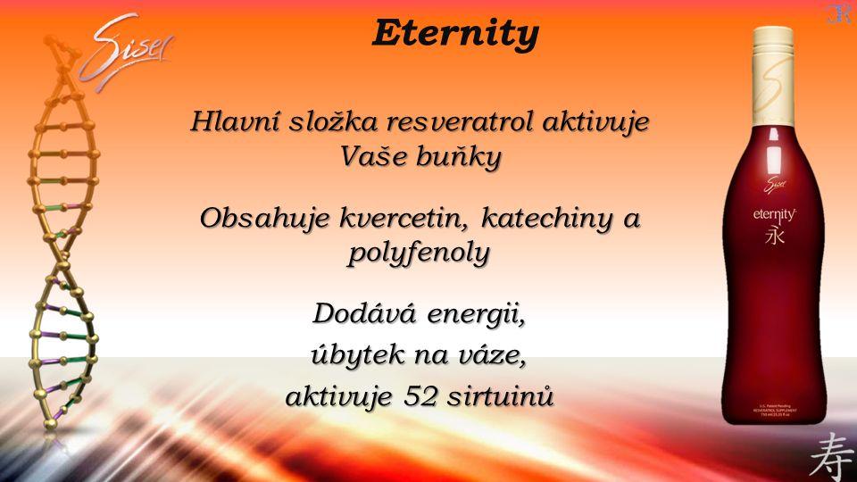 Eternity Hlavní složka resveratrol aktivuje Vaše buňky