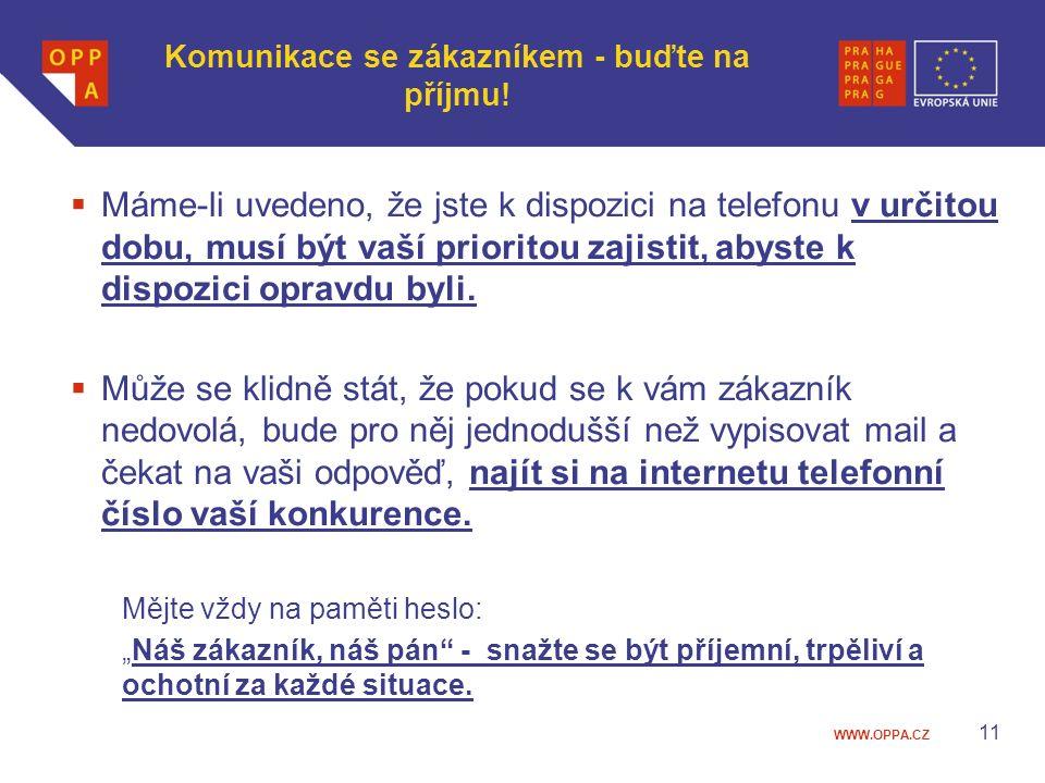 Komunikace se zákazníkem - buďte na příjmu!