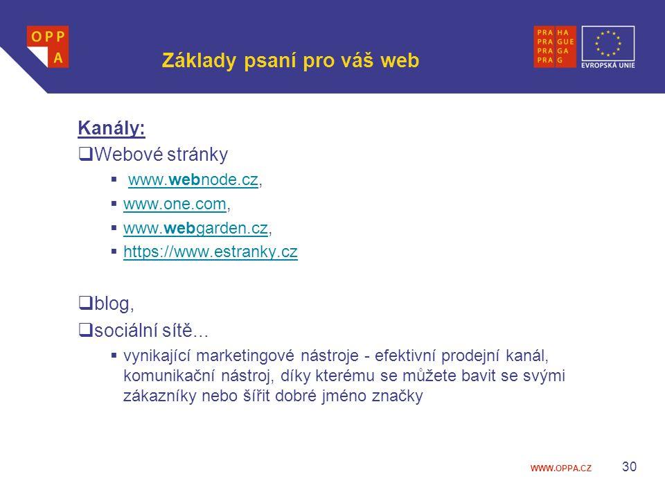 Základy psaní pro váš web