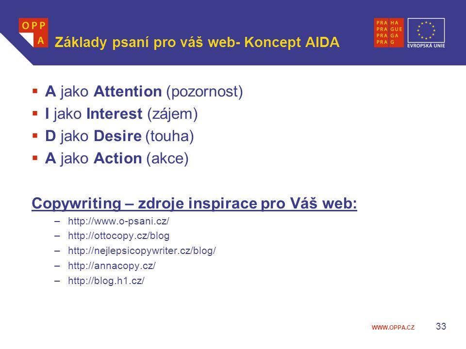 Základy psaní pro váš web- Koncept AIDA