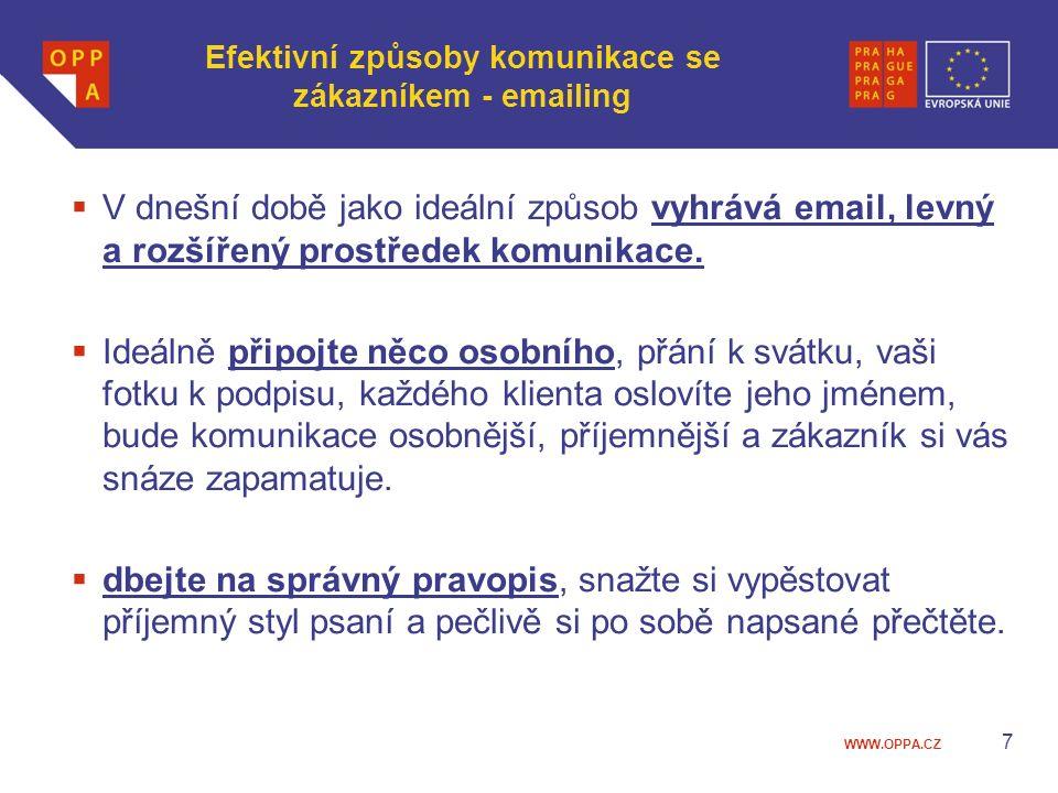 Efektivní způsoby komunikace se zákazníkem - emailing