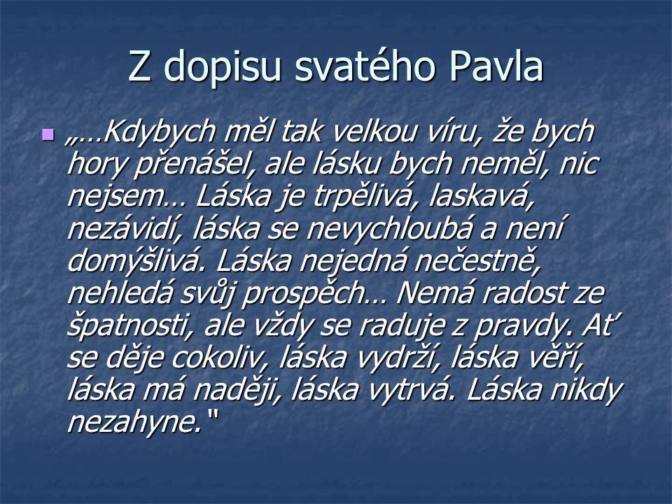 Z dopisu svatého Pavla