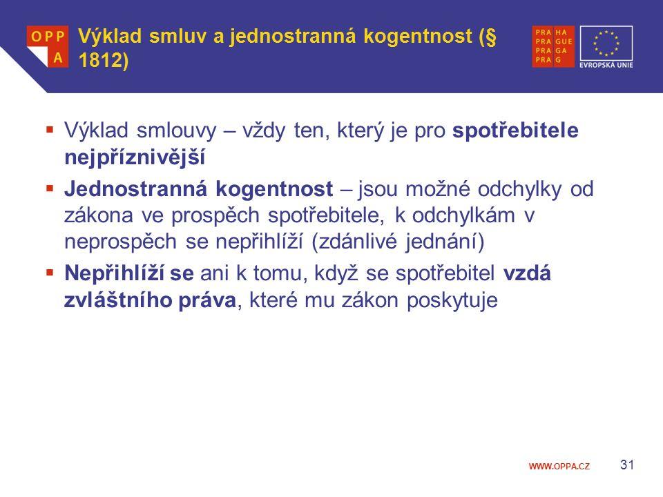 Výklad smluv a jednostranná kogentnost (§ 1812)