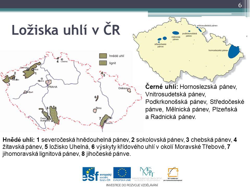 Ložiska uhlí v ČR