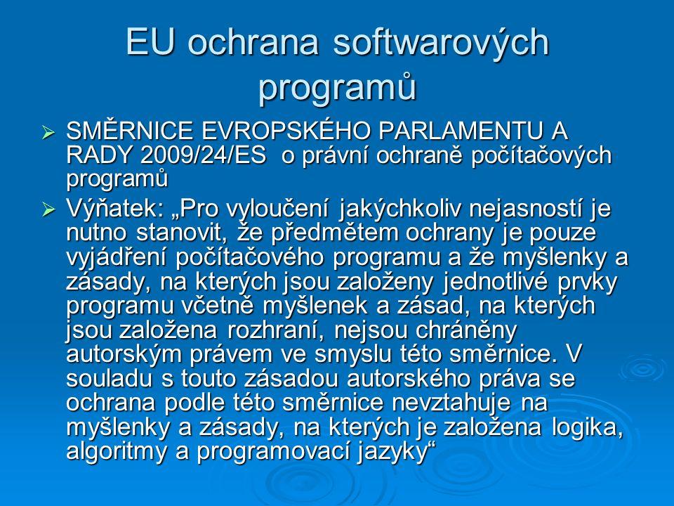 EU ochrana softwarových programů