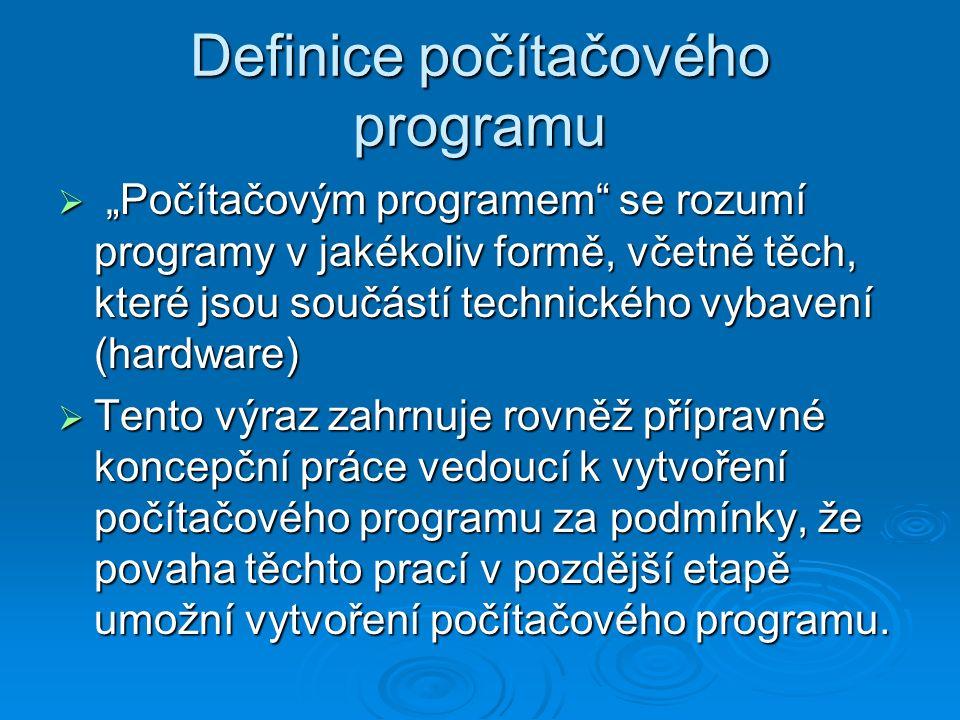 Definice počítačového programu