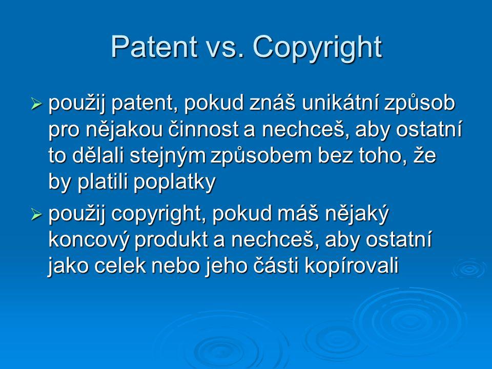 Patent vs. Copyright
