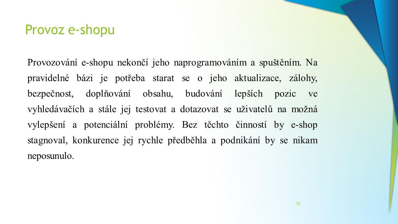Provoz e-shopu