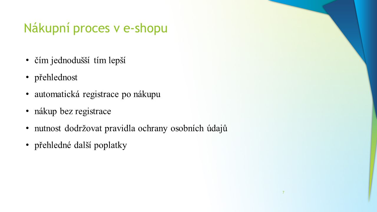 Nákupní proces v e-shopu