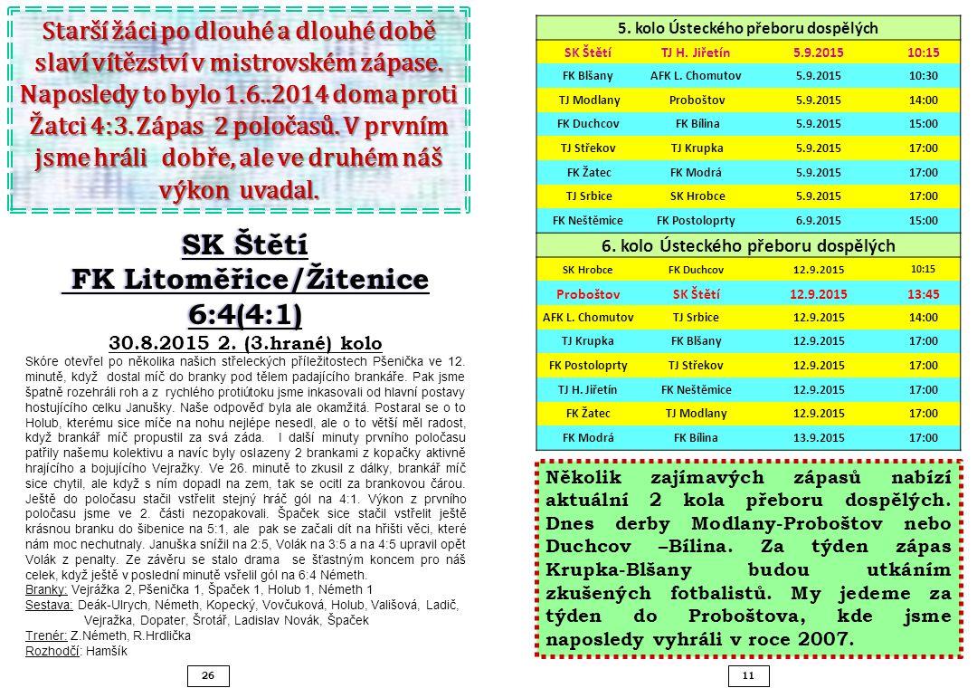 SK Štětí FK Litoměřice/Žitenice 6:4(4:1)