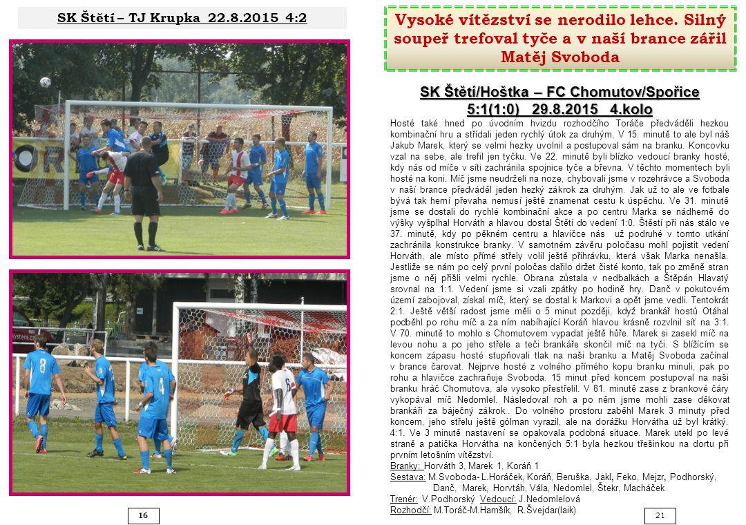 SK Štětí/Hoštka – FC Chomutov/Spořice