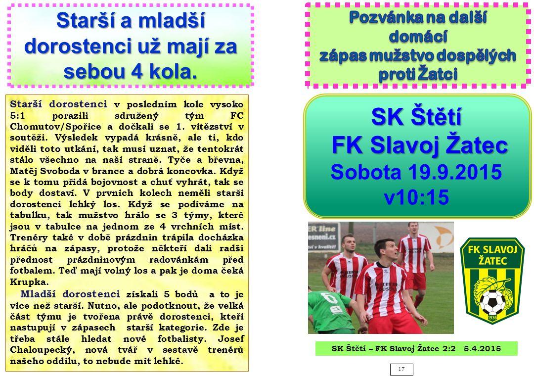SK Štětí FK Slavoj Žatec